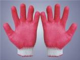 Găng tay sợi tráng cao su dầy