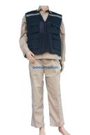 Áo gile phản quang (Vải Kaki Nam Định, 4 túi hộp, phản quang 3cm) - Nhiều mầu