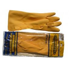 Găng tay cao su chống hóa chất, axid mầu vàng  - Malaysia