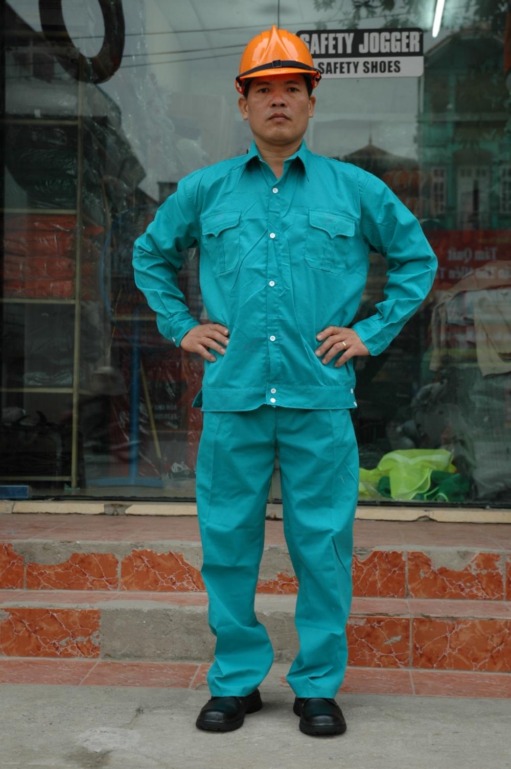 Quan ao Kaki Nam Dinh xanh ngoc loai 1