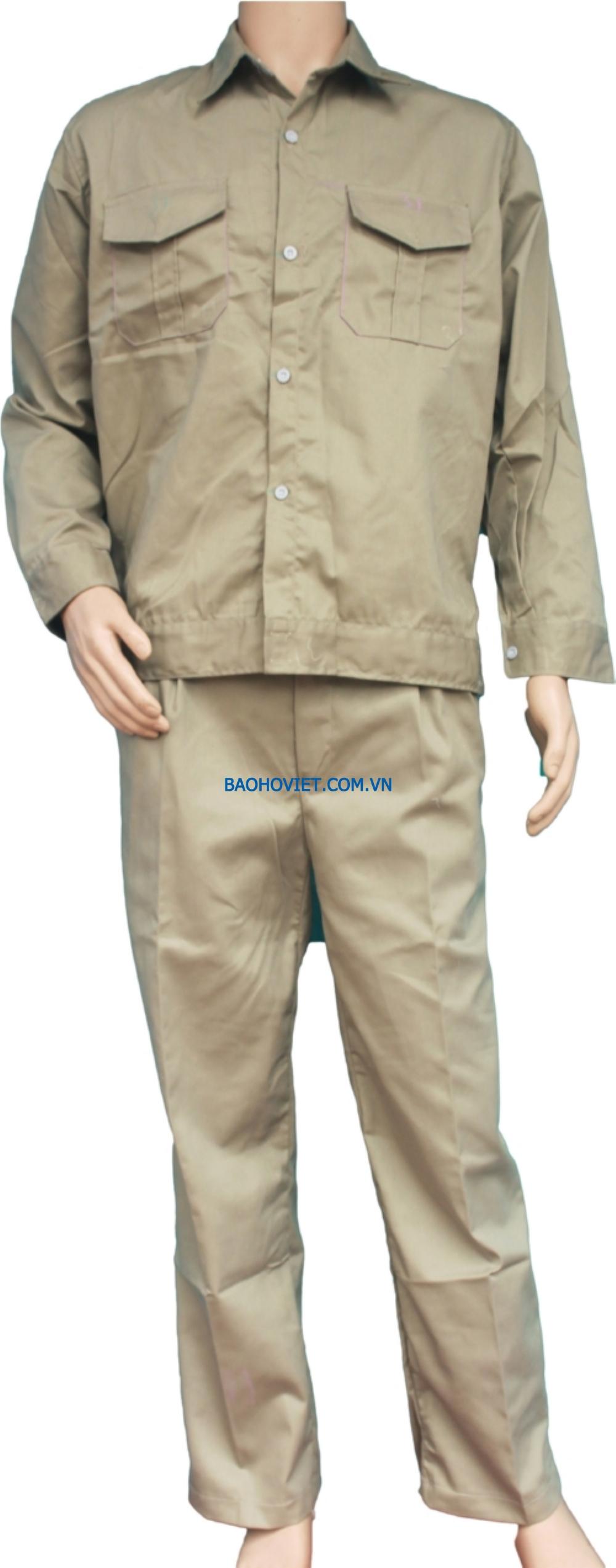 Quần áo Kaki Nam Định loại 1 - Mầu xi măng