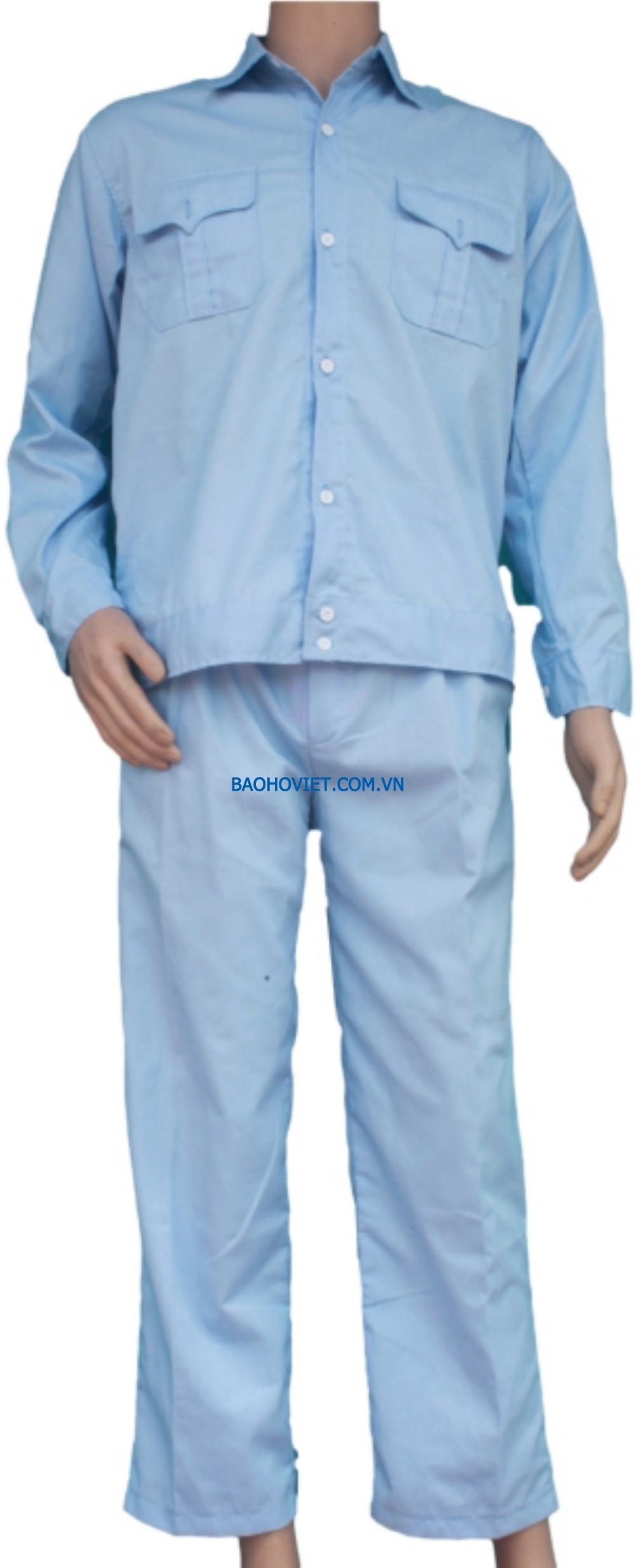 Quần áo Kaki Nam Định loại 1 - Mầu xanh hòa bình nhạt